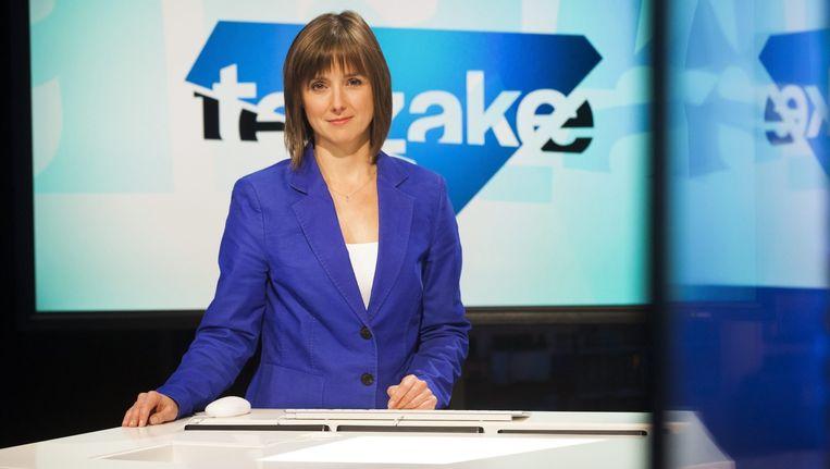 Annelies Beck gaat Terzake Laat, de vervanger van Reyers Laat, presenteren met Kathleen Cools. Beeld vrt