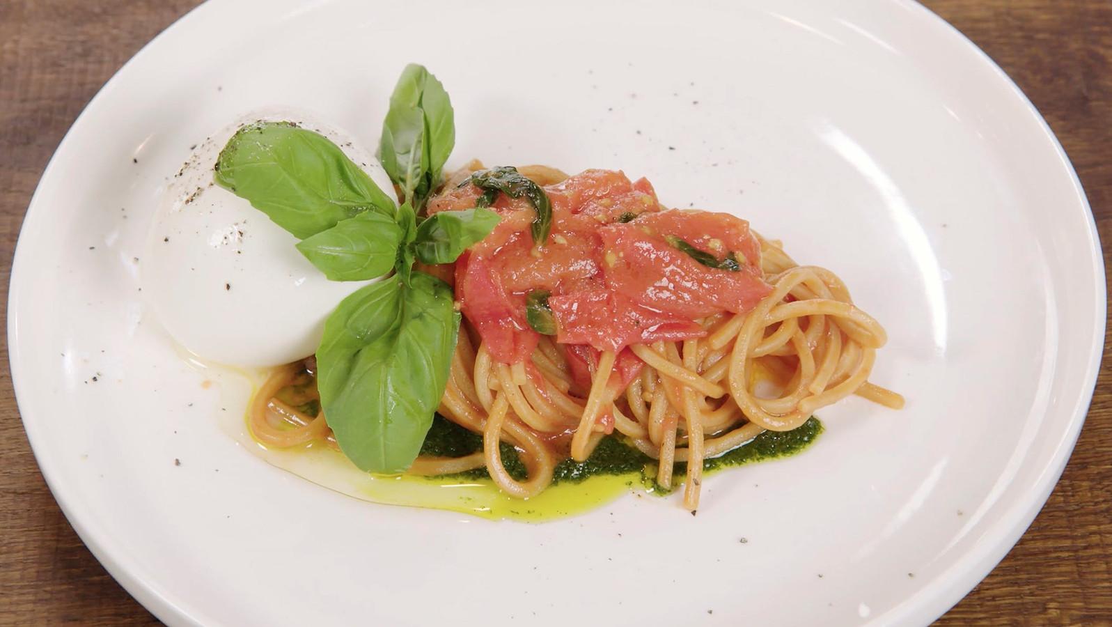 Spaghetti met tomatensaus.