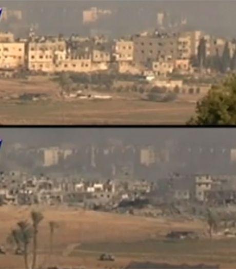 Video toont vernietigende kracht bombardementen op Gaza