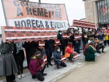 L'horeca bruxellois au Mont des Arts pour réclamer plus d'aides de la Région