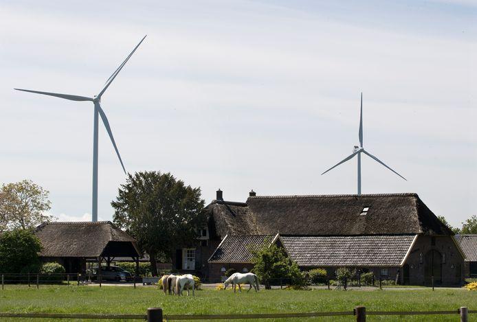 Windmolens in Angerlo. Foto ter illustratie.