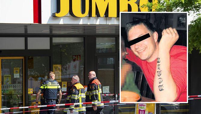 Een filiaal van supermarkt Jumbo in Rosmalen werd in augustus uit voorzorg ontruimd na de vondst van een verdacht pakketje. Inzetje: verdachte Alex O.