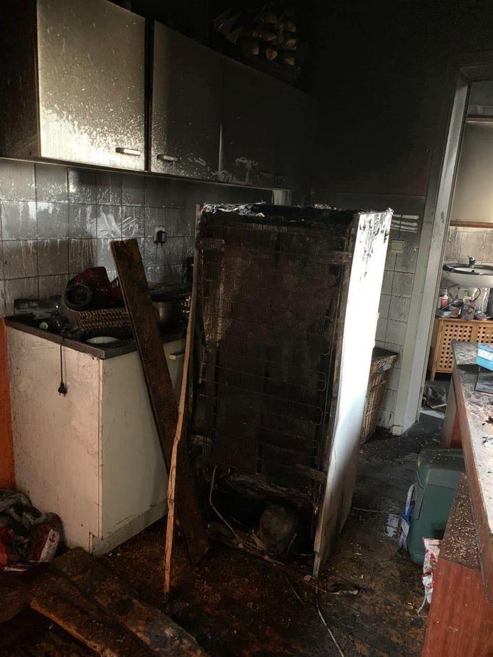 Les dégâts de l'incendie.