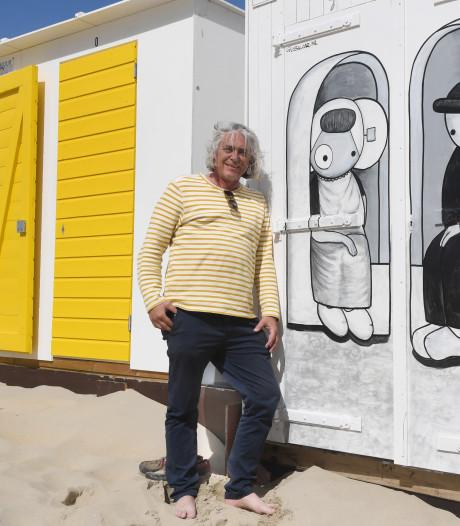 Leuntje en Merien vereeuwigd op strandhuisje in Dishoek