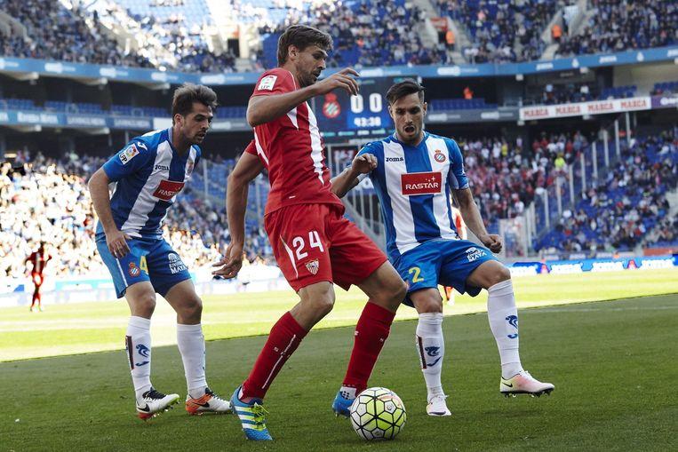 Sevilla speelt donderdag in de beslissende halve finale van de Europa League. Beeld epa