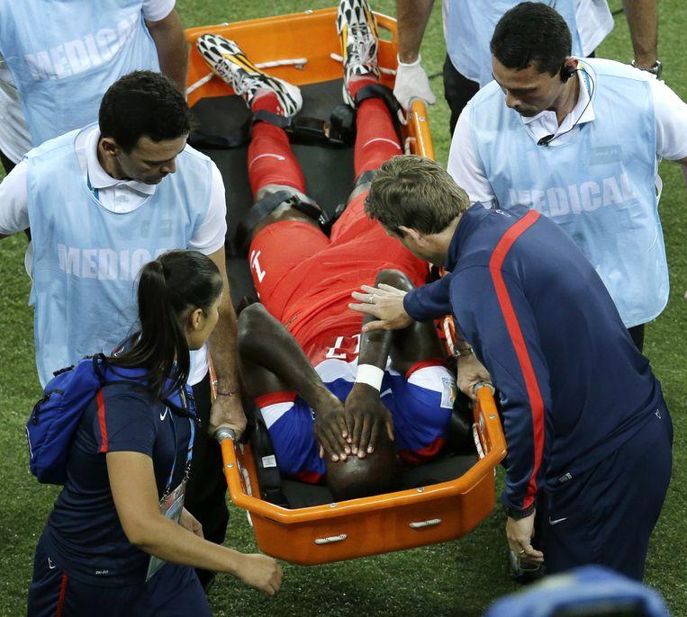 Klinsmann zag Altidore al gauw uitvallen met problemen aan de dij. Beeld AP