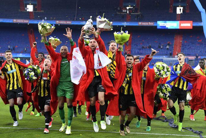 Vitesse won in 2017 de TOTO KNVB-beker in de Rotterdamse Kuip door AZ met 2-0 te verslaan.