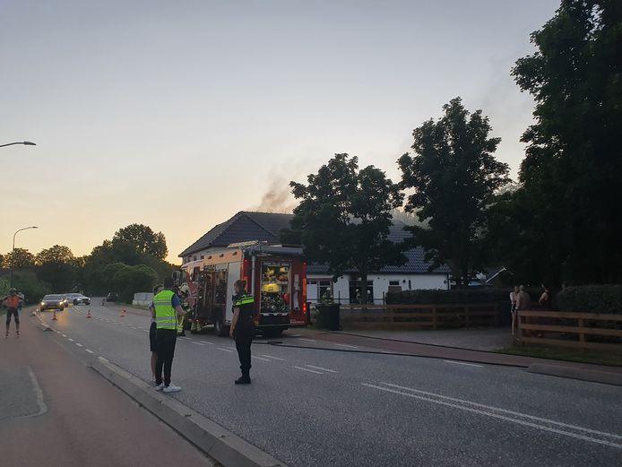 Brand in het voormalig wokrestaurant in Ewijk.