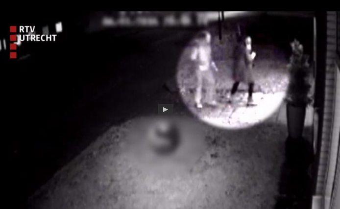 Beeld van de bewakingsvideo