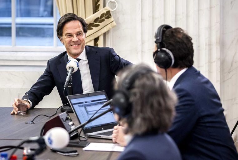 Mark Rutte (VVD) tijdens het NOS Radiodebat. Beeld ANP
