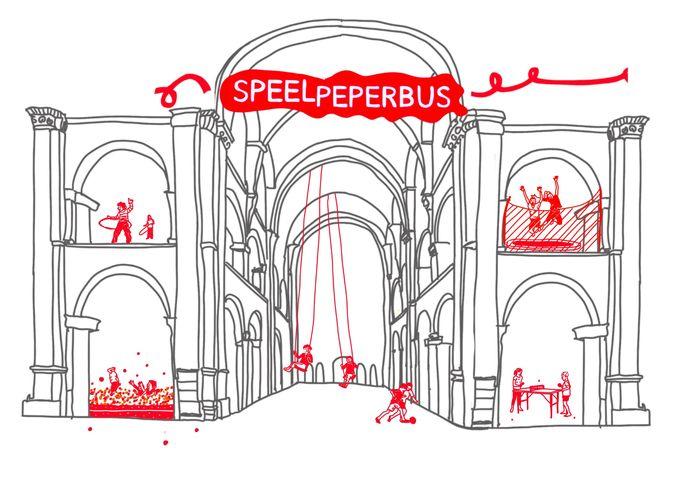 Borgerhouts illustrator  Fenna Bouve ging met de ideeën aan de slag en maakte drie schetsen die weergeven hoe de Peperbus van de toekomst eruit zou kunnen zien.