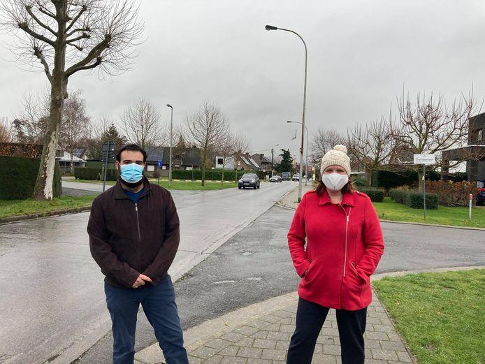 Bart van Moerkerke en Mira Lootens ijveren al lang voor een zebrapad