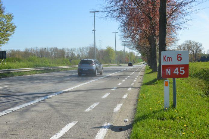 De Expresweg (N45) tussen Ninove en Aalst.