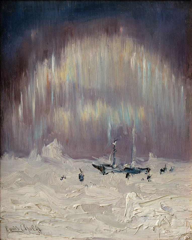 Louis Apol, Noorderlicht bij Nova Zembla (1880) Beeld Collectie familie Van Bommel