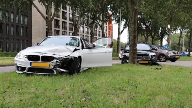 Auto komt tegen boom tot stilstand bij aanrijding op Van Leeuwenhoeklaan