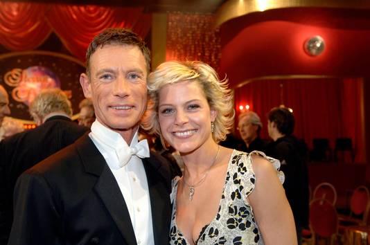 Dina en danspartner Wim Gevaert in 2006