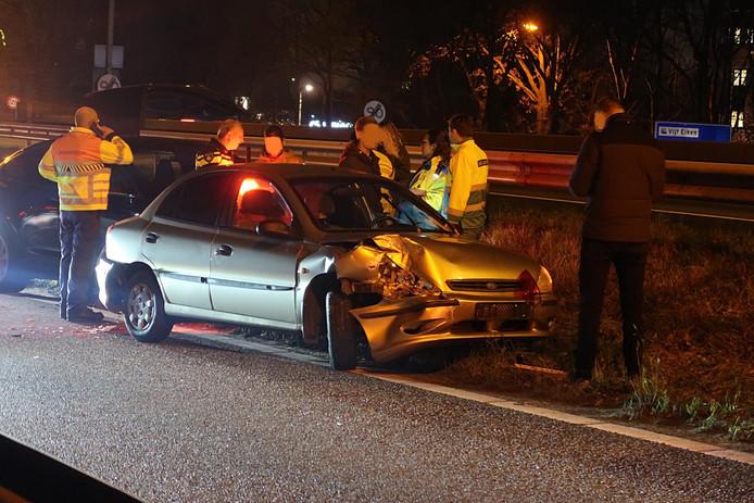 Er raakten drie auto's bij betrokken.