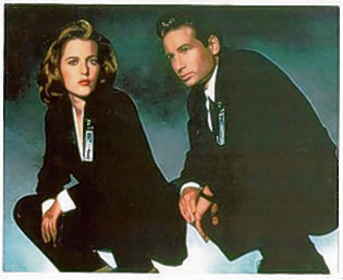 FBI-agenten Scully en Mulder.