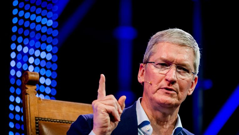 Apple-topman Tim Cook. Beeld ANP