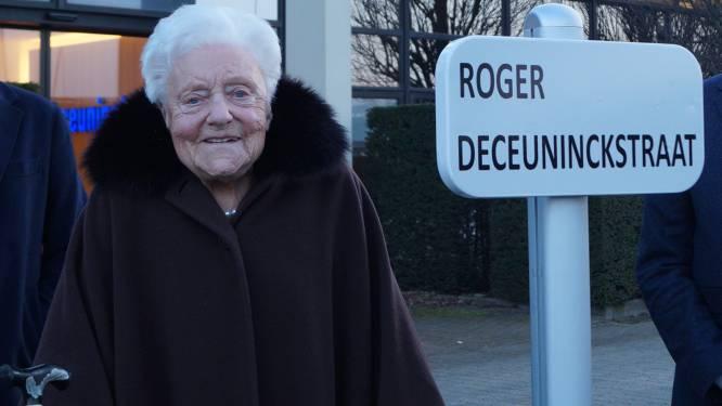 """Roger Deceuninck vereeuwigd in nieuwe straat achter bedrijf: """"Mijn man zou zo 'preus' geweest zijn"""""""