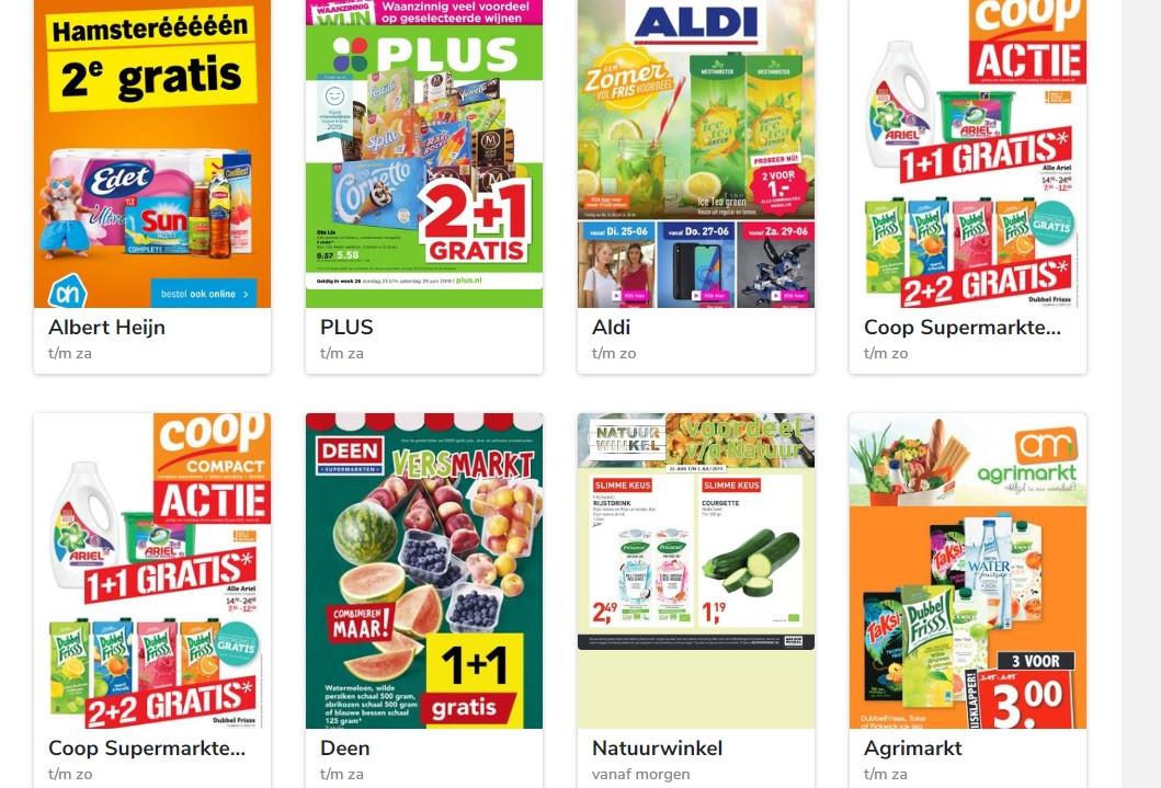 Folders van supermarkten bij Reclamefolder.nl.
