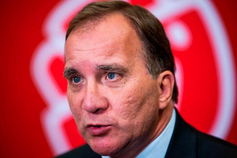 Zweeds premier Stefan Löfven. Beeld AFP