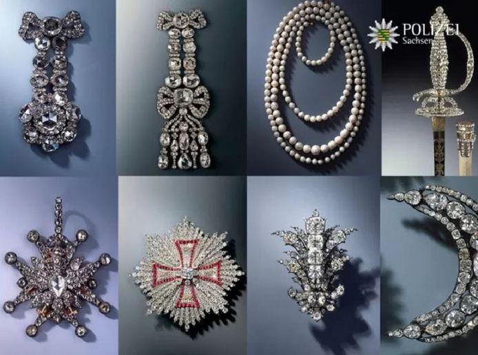 Een deel van de geroofde sieraden.
