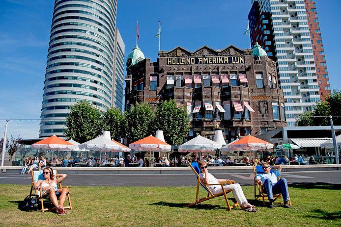 Het massatoerisme heeft volgens de onderzoekers nog geen vat op Rotterdam.