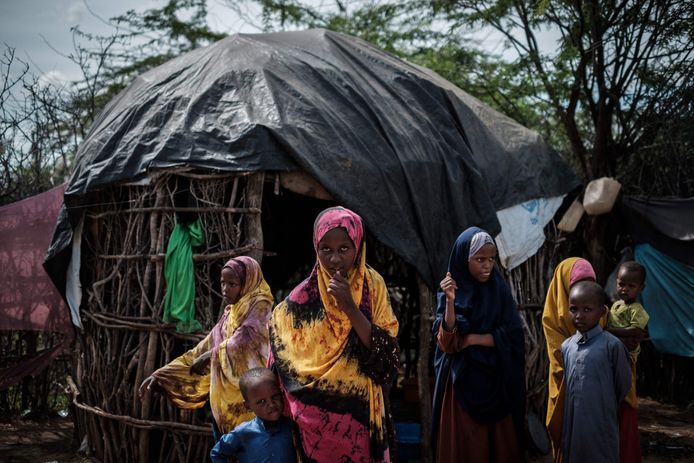 Vluchtelingen in het kamp Dadaab.