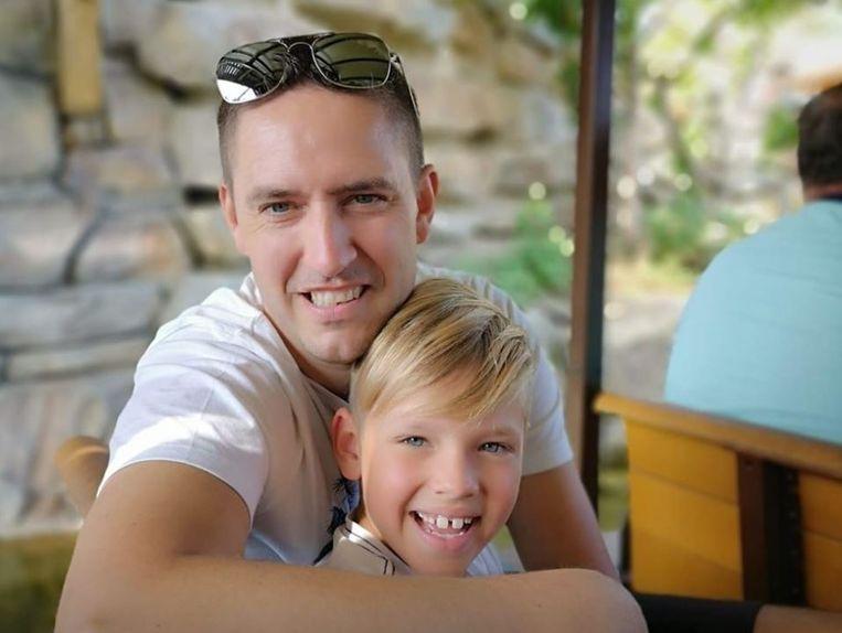 Kurt Van Hyfte en zijn zoon Kjell