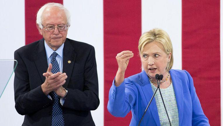 Bernie Sanders en Hillary Clinton. Beeld afp