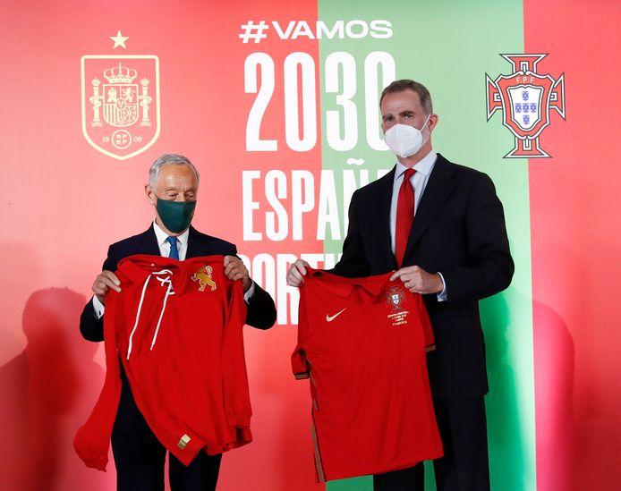 Le président portugais Marcelo Rebelo de Sousa et le roi d'Espagne Felipe VI.