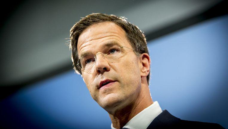 VVD-leider en minister-president Mark Rutte wil na de verkiezingen van volgend jaar opnieuw premier worden. Beeld ANP
