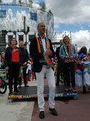 Cultuurwethouder Said Kasmi met rechts van hem Ahoy-directeur Jolanda Jansen