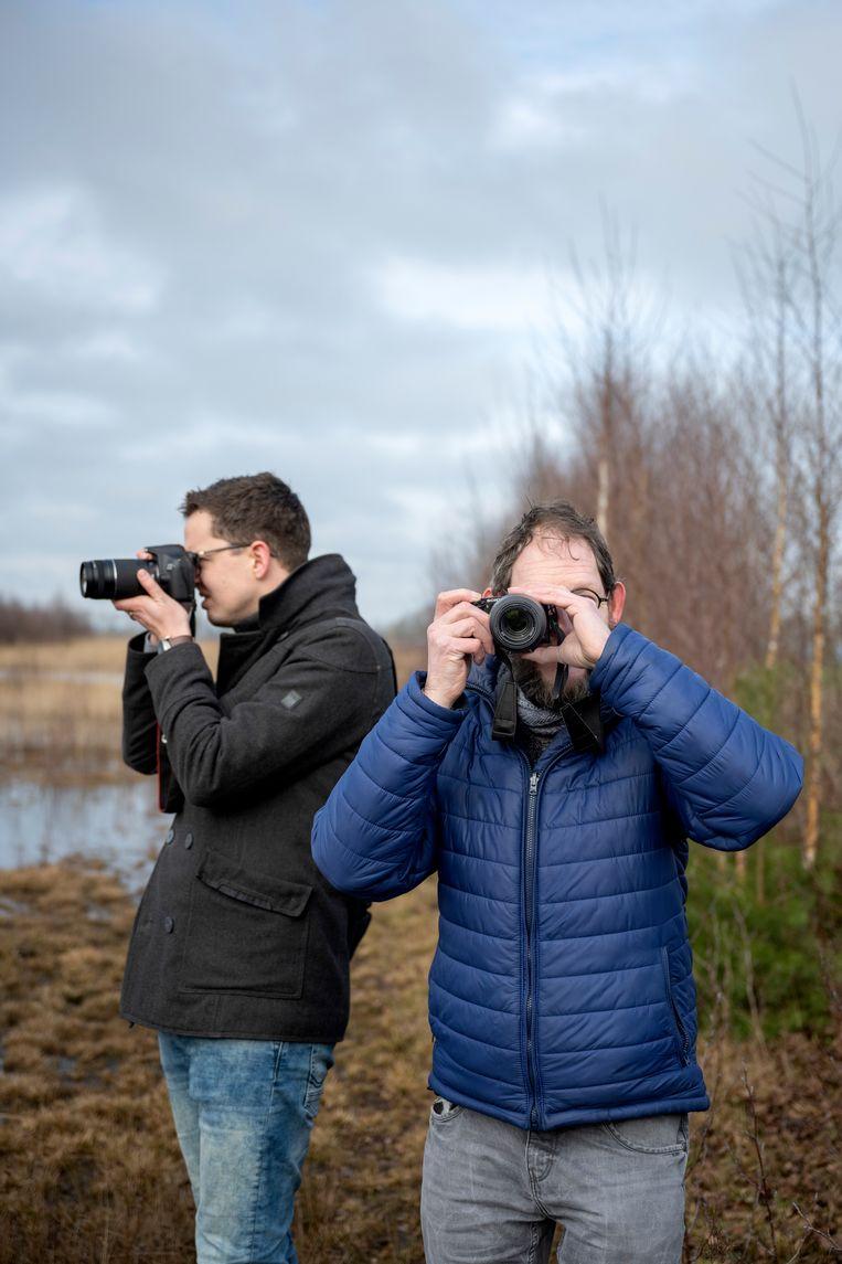 De twee Zwollenaren fotograferen ook veel samen. Beeld Bram Petraeus