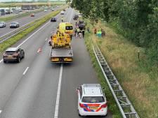 Ongeluk op A28 bij Putten: meer dan half uur vertraging