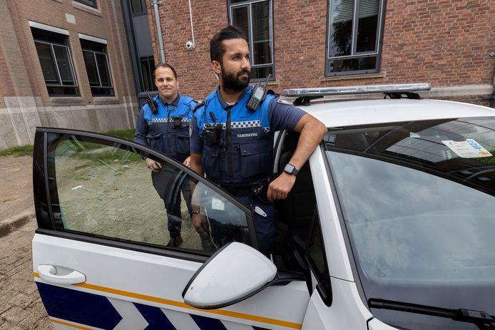 Eindhovense handhavers met bodycam.