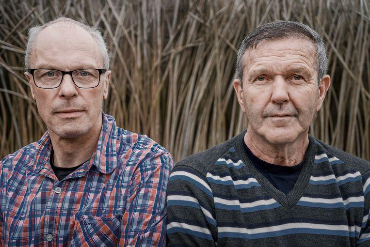 Frank Hoste en Roger De Vlaeminck Beeld Eric de Mildt