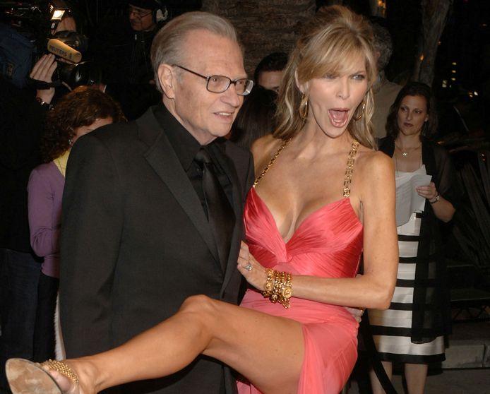 Larry King and his wife Shawn à la soirée Vanity Fair des Oscars en 2006.