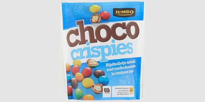 De choco crispies van Jumbo.
