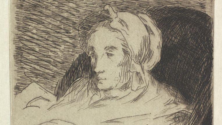La convalescente (1876) van Édouard Manet. Te zien is zijn zieke vrouw Suzanne Beeld René Gerritsen