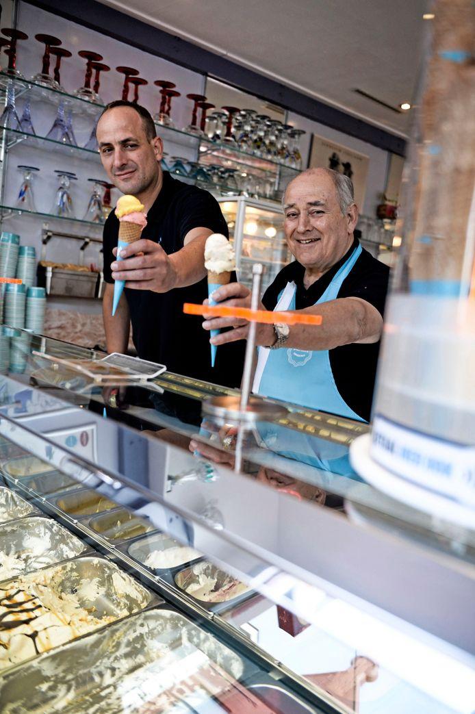 Talamini, met vader Angelo en zoon Riccardo.
