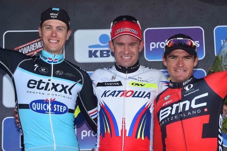 Het podium van de Ronde van Vlaanderen.