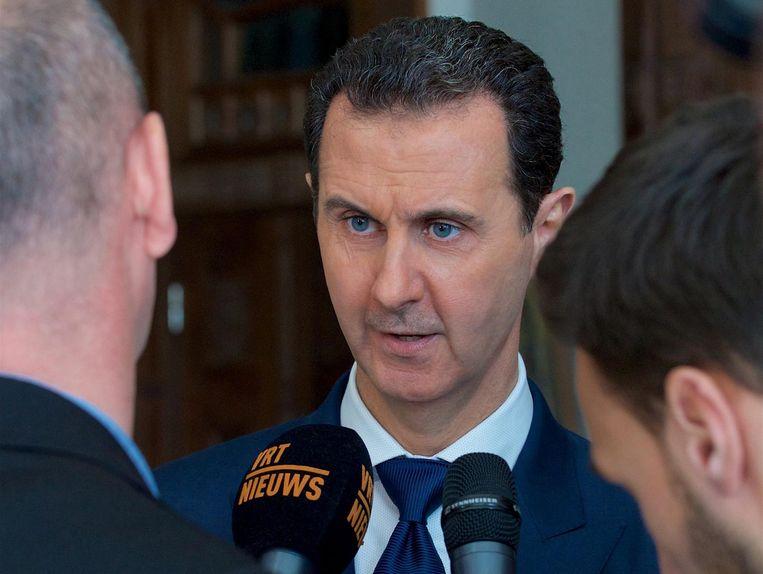 Syrische president Bashar al-Assad Beeld null