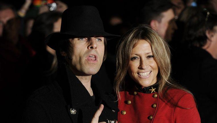 Liam Gallagher en zijn vrouw Nicole Appleton, voormalig lid van de meidengroep All Saints. Beeld epa