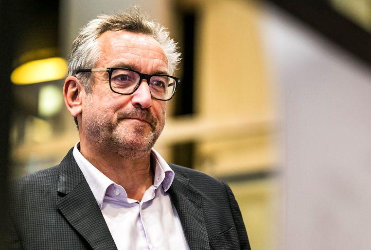 Hoofdredacteur Peter Vandermeersch op de redactie van het NRC Beeld ANP