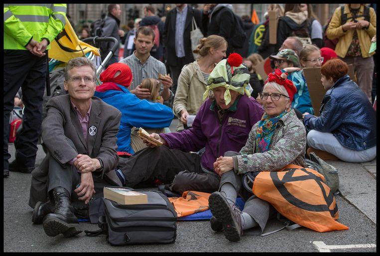 Demonstranten op Trafalgar Square.