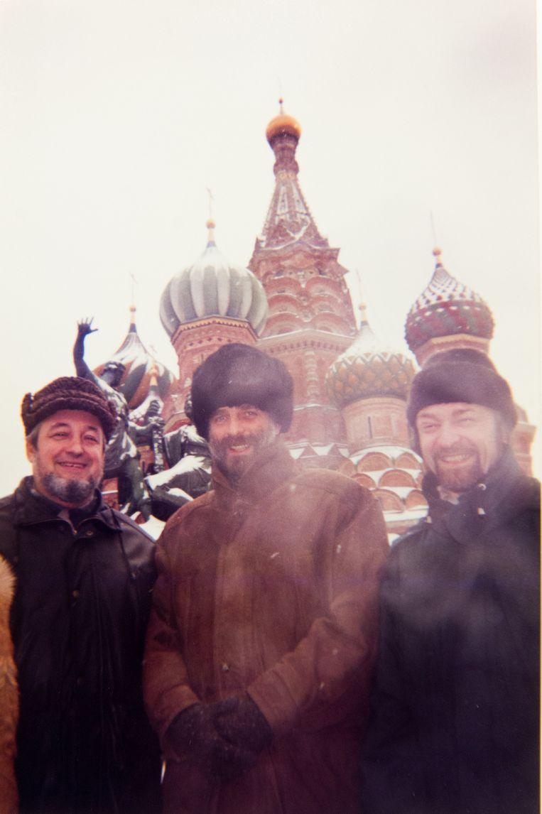Nobels (midden) tijdens de ondertekening van een samenwerkingsakkoord tussen de Mechelse Beiaardschool en het staatsconservatorium Saratov in Moskou.