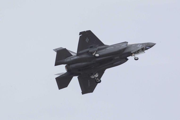 Een F-35 stijgt op vanop een luchtmachtbasis in Florida. Beeld ANP