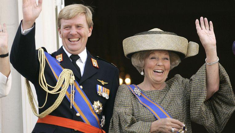 De prins en zijn moeder Beatrix op Prinsjesdag vorig jaar. Beeld GETTY